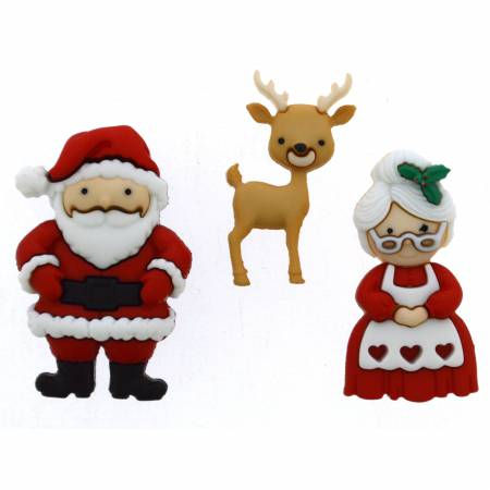 Mr & Mrs Claus Button Pack