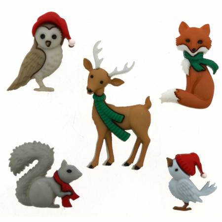 Woodland Holiday Button Pack