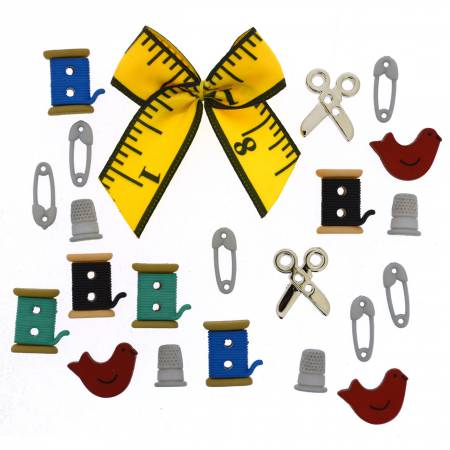 Sewing Box  Button Pack - 9557