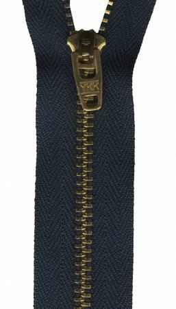 Metal Jean Zipper 7in Navy