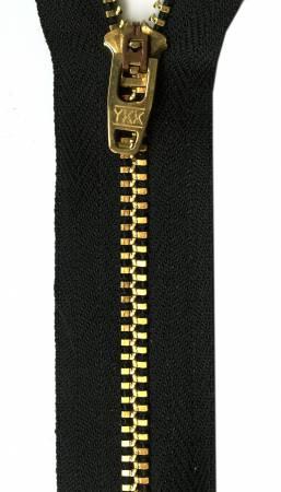 Metal Jean Zipper 7in Black
