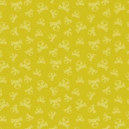 Kraken Jolly Roger Cotton - Chartreuse
