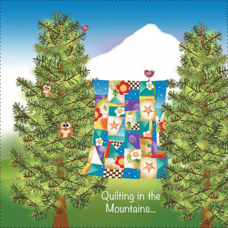 Quilting in the Mountains Fabric Panel 7.5-8