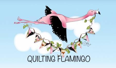 Quilting Flamingo in Flight Magnet