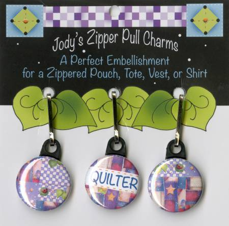 Jody's Zipper Pull Charms - Zip Charm Set Quilter