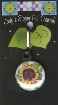 Sunflower Zipper Charm