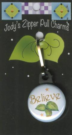 Zipper Pull Charm Believe