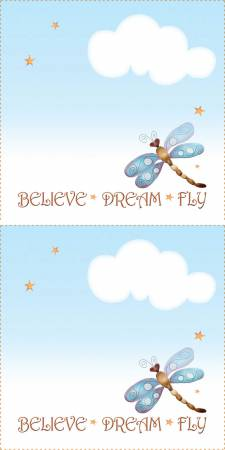 Quilt Label Dragonfly 2 per pack QLDRA