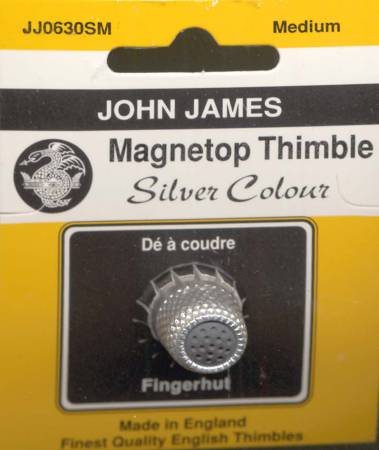 Magnet Top Thimble Silver Medium