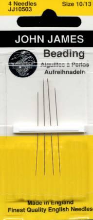 John James Beading Needles Assorted Size 10/13 4ct