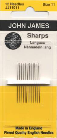 John James Sharps - Size 11 - 12ct - Hand Sewing Needles