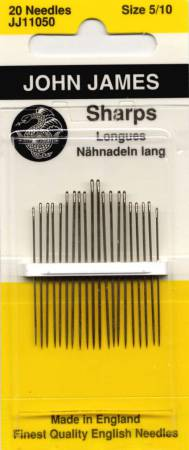 John James Sharps Needles Assorted Sizes 5/10 20ct