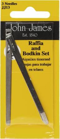 Raffia & Bodkin Needle Set : Asst. Sizes - 3ct. John James