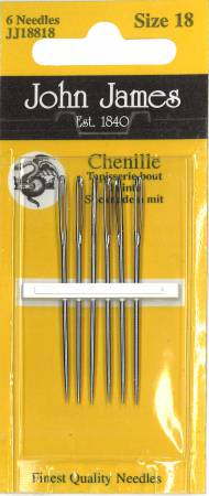 John James Blister Pack Chenille Needles Size 18