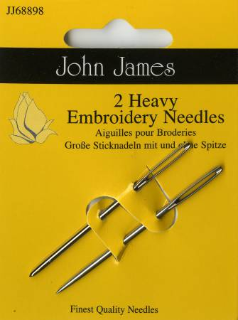 John James Embroidery / Crewel Heavy Needles 2 ct