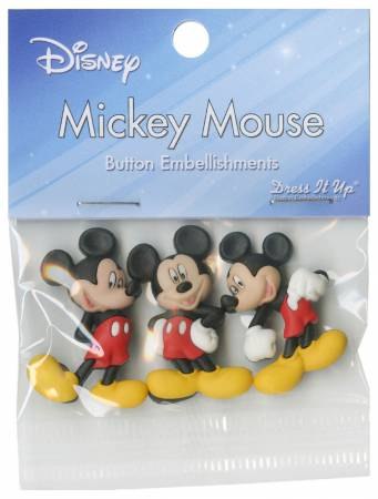 Disney's Micky Mouse Button Pack - 7716