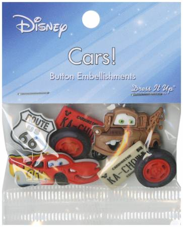 Disney's Cars  7 ct.  Button Pack 7719