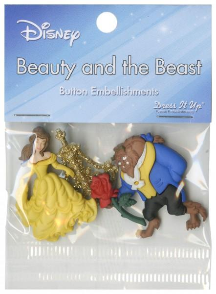 Disney's Beauty And The Beast Button Pack - 7724