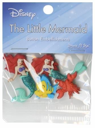 Disney's Little Mermaid Button Pack - 7726