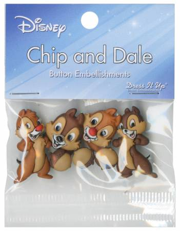Disney's Chip And Dale 7 ct Button Pack - 7728