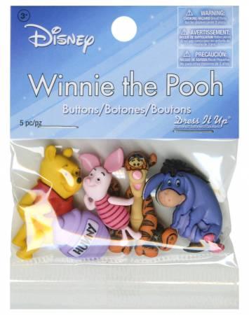 Disney's Winnie The Pooh Button Pack - 7739