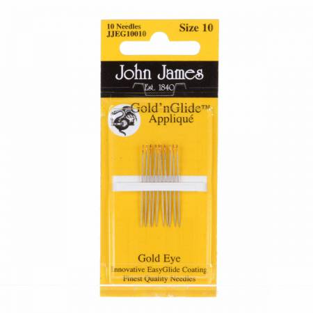 John James Gold'N Glide Applique Needles Size 10 10ct