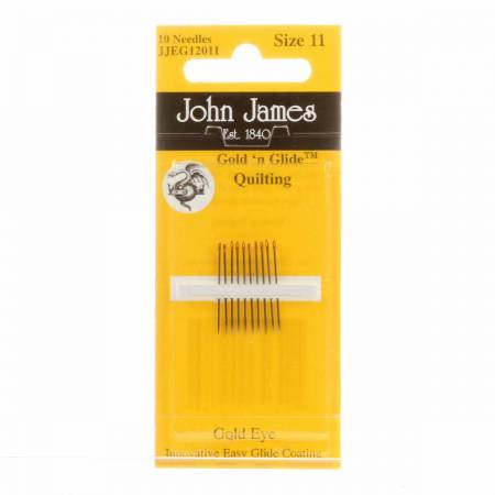 John James Gold'N Glide Between / Quilting Needles Size 11 10ct