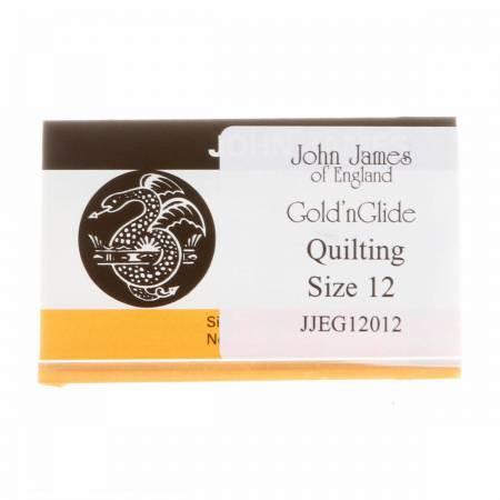 John James Gold'N Glide Quilting Needles Sz 12 - Envelope 10ct