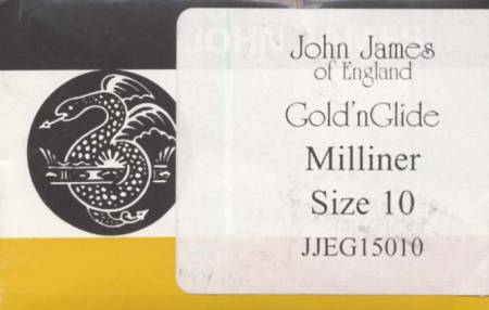 John James Gold'N Glide Milliners / Straw Needles Size 10 10ct