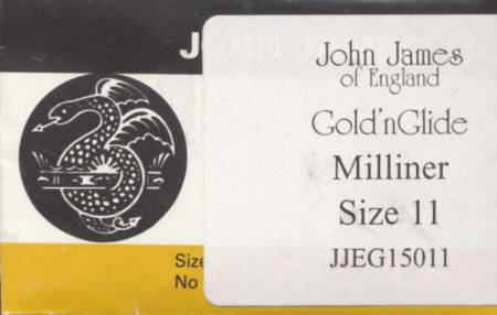 John James Gold'N Glide Applique Needles size 11 10 ct
