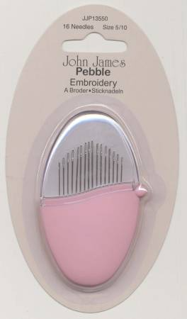 John James Pebbles Embroidery / Crewel Needles Assorted Sizes 5/10 16ct Pink