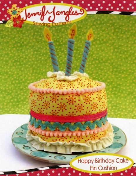 Happy Birthday Cake Pin Cushion