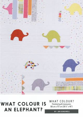 What Colour Is An Elephant? Quilt Pattern by Jen Kingwell Designs