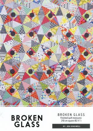 Broken Glass Quilt Pattern And Template by Jen Kingwell