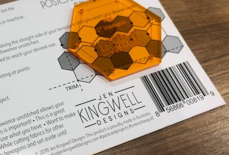 Jen Kingwell Postcard Project No 6 One Inch Hex