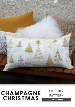 Champagne Christmas Cushion Pattern 27 3/4 x 15 by Jen Kingwell Collective