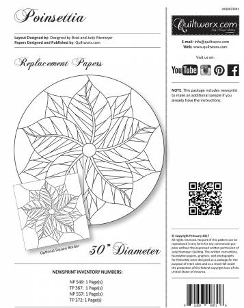 Poinsettia Replacement Paper