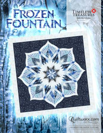 Frozen Fountain - paper pieced
