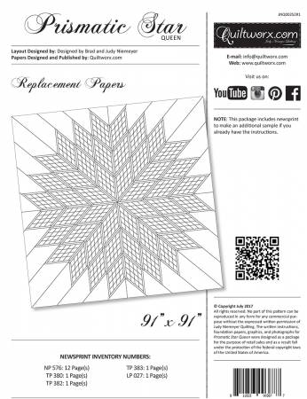 Prismatic Star Queen Replacement Papers
