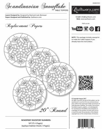 Scandinavian Snowflake Replacement Papers - JNQ00255R1