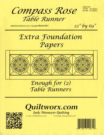 *Compass Rose Table Runner Foundation Papers - JNQ114E