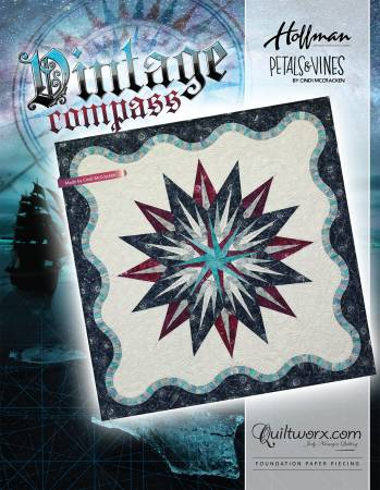 Vintage Compass - Foundation Paper Piecing Pattern