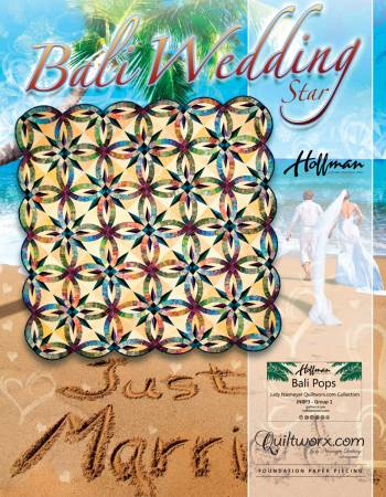 Bali Wedding Star Paper Piecing Pattern