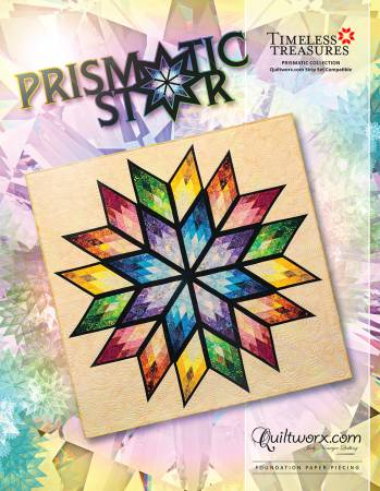 Prismatic Star- paper pieced pattern