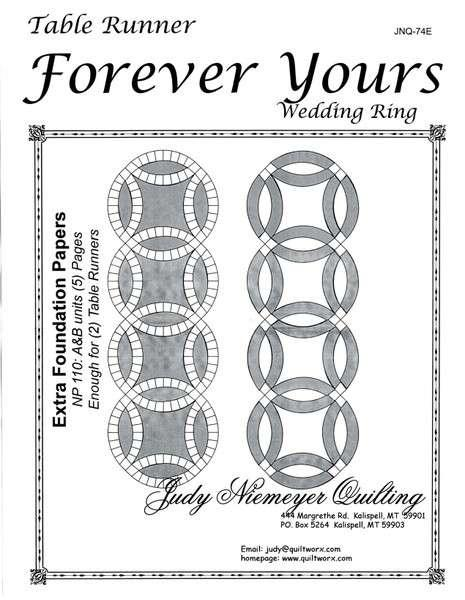 Forever Yours Wedding Ring Table Runner Extra Paper