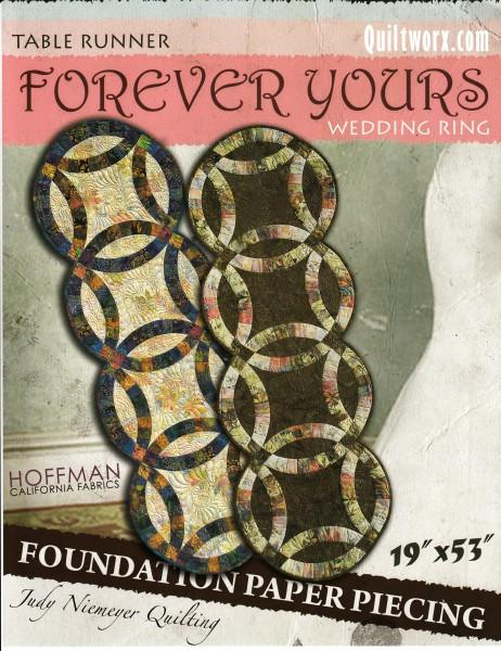 Forever Yours Wedding Ring Table Runner 19in x 53in