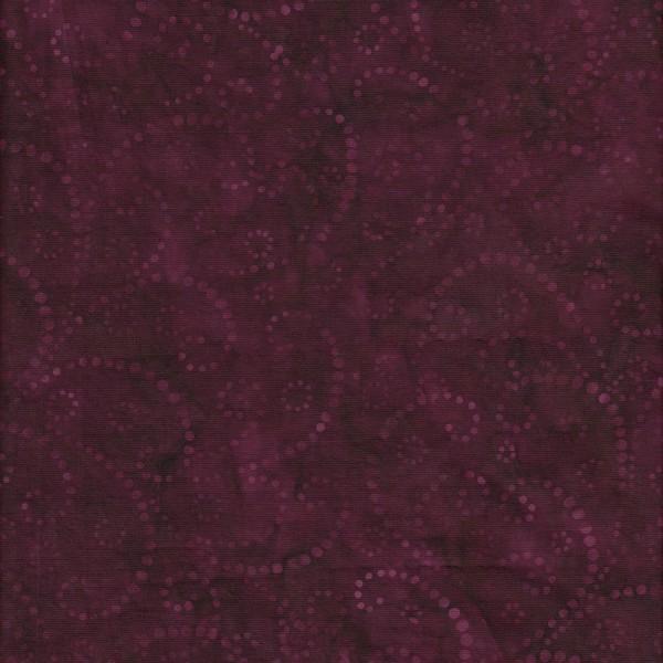 Dark Berry Swirls 108in Batik 0014
