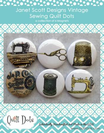 Vintage Sewing Collection 6 Magnets