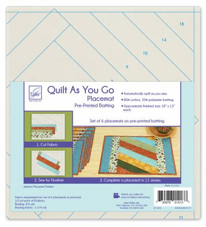 Quilt As You Go Placemats (6) - Jakarta