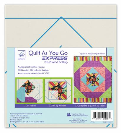 Quilt As You Go- Square in a Square Quilt